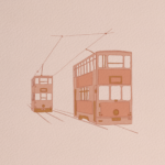 Hong Kong Tram Illustration
