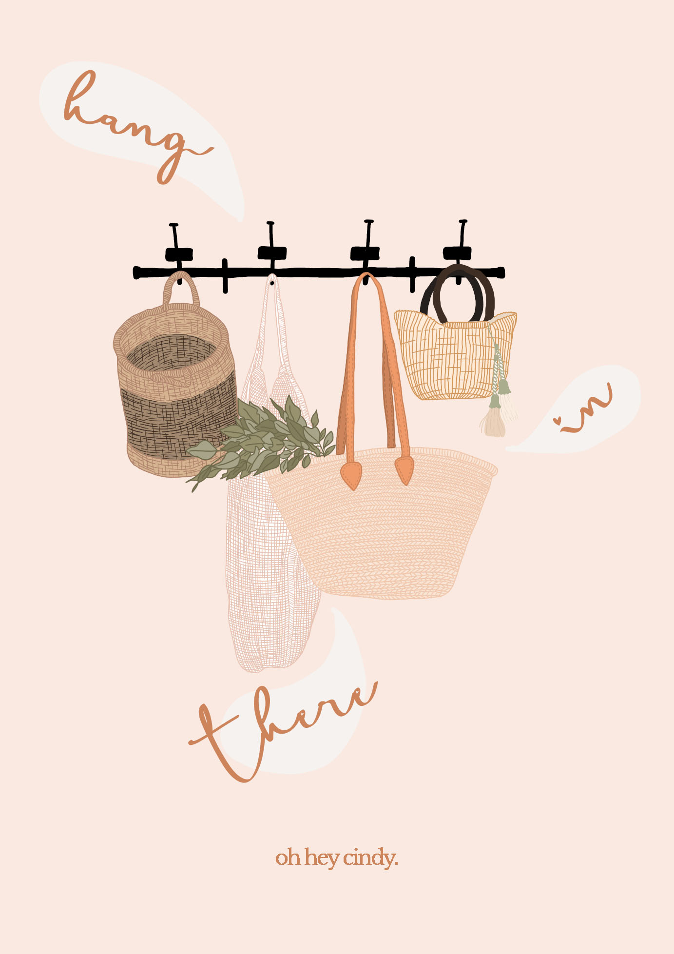 Hang in there illustration