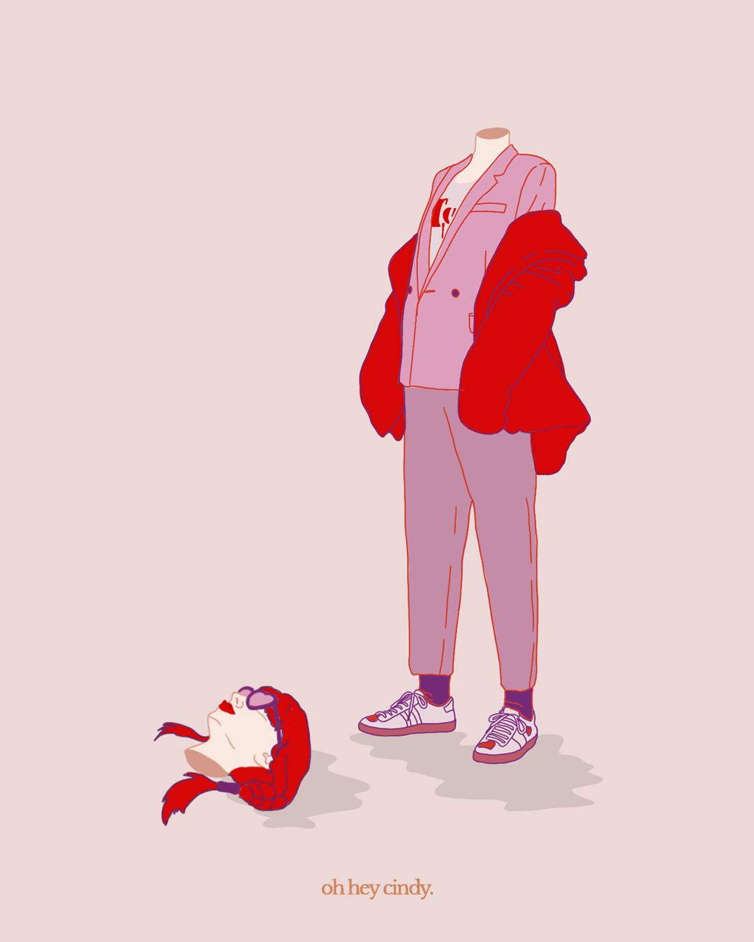 Heavy Head Illustration