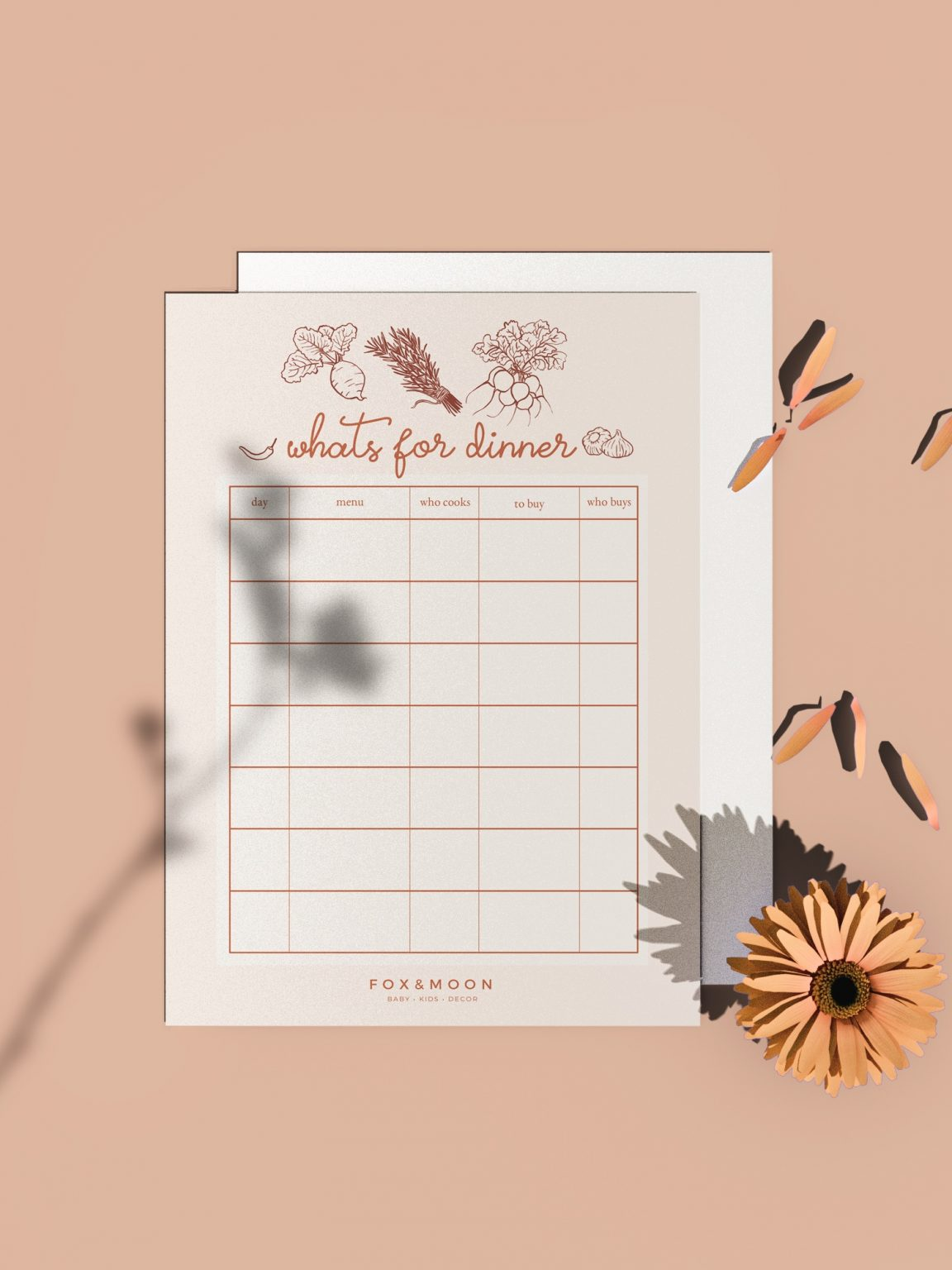 Oh Hey Cindy - Whats for dinner - Free Printable