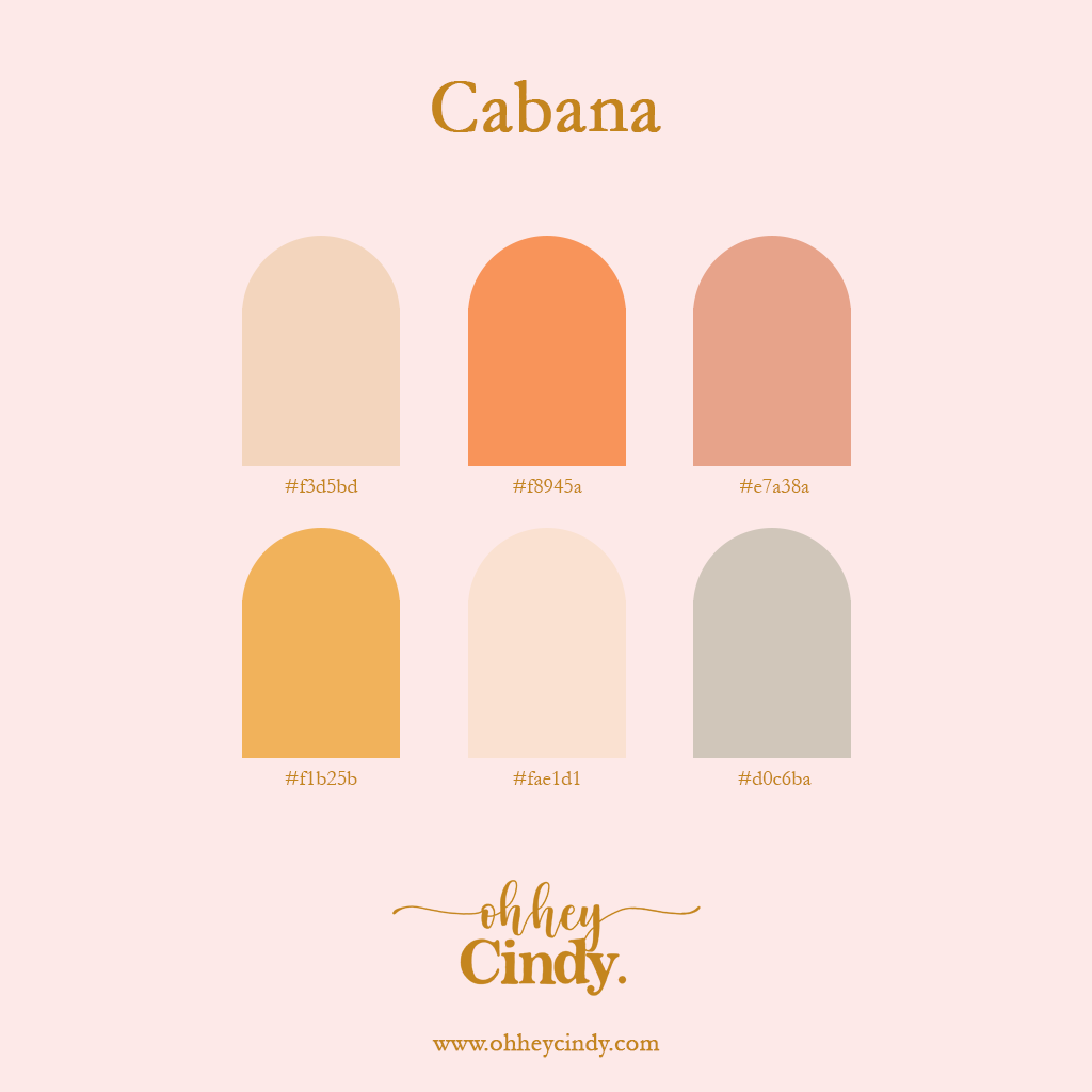 Oh Hey Cindy - Cabana Color Palette