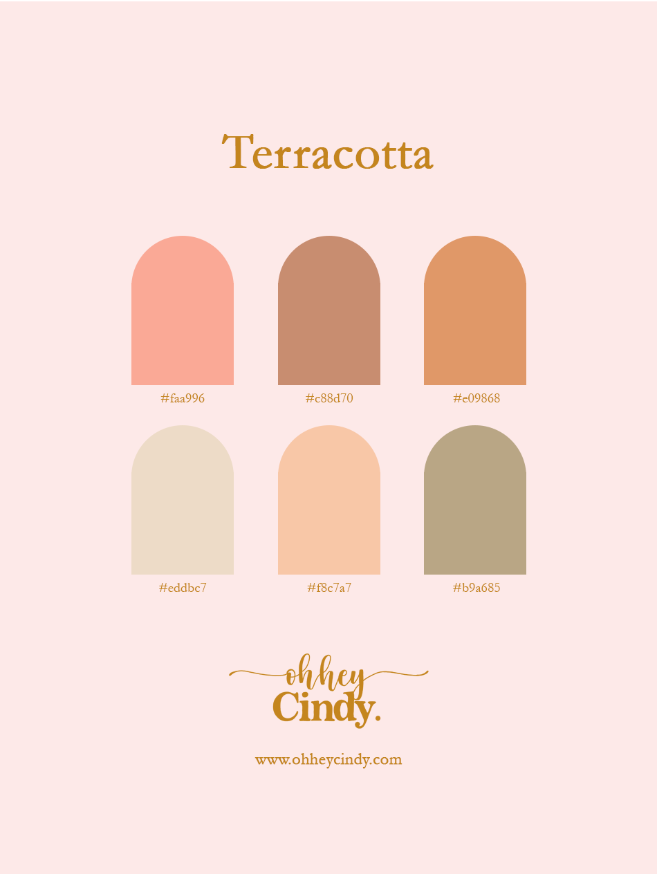 Oh Hey Cindy - Terracotta Color Palette